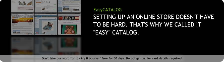 Setting up an online store doesn't have to be hard - that's why we called it easy catalog